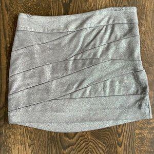 Express shimmer mini skirt